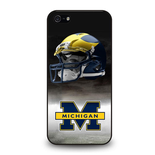 coque custodia cover fundas hoesjes iphone 11 pro max 5 6 7 8 plus x xs xr se2020 C26260 MICHIGAN WOLVERINES #4 iPhone 5/5S/SE Case