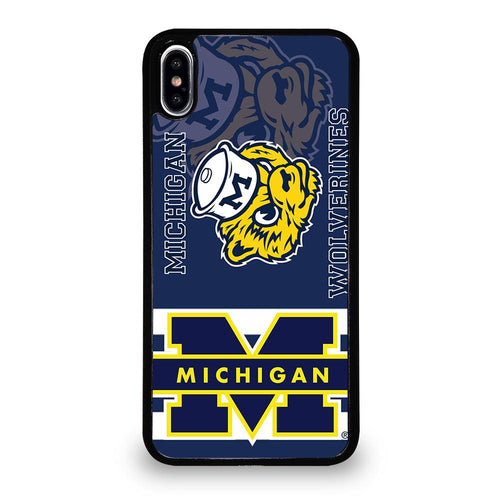 coque custodia cover fundas hoesjes iphone 11 pro max 5 6 7 8 plus x xs xr se2020 C26278 MICHIGAN WOLVERINES #6 iPhone XS Max Case