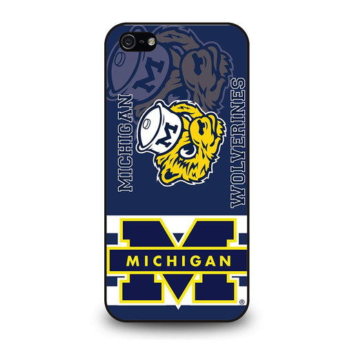 coque custodia cover fundas hoesjes iphone 11 pro max 5 6 7 8 plus x xs xr se2020 C26271 MICHIGAN WOLVERINES #6 iPhone 5/5S/SE Case