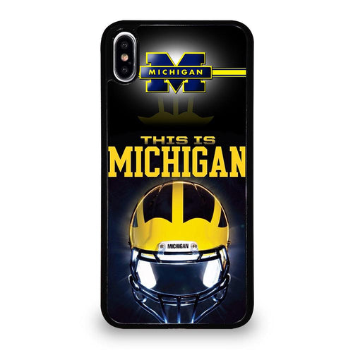 coque custodia cover fundas hoesjes iphone 11 pro max 5 6 7 8 plus x xs xr se2020 C26289 MICHIGAN WOLVERINES FOOTBALL #4 iPhone XS Max Case