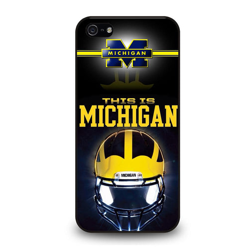 coque custodia cover fundas hoesjes iphone 11 pro max 5 6 7 8 plus x xs xr se2020 C26282 MICHIGAN WOLVERINES FOOTBALL #4 iPhone 5/5S/SE Case