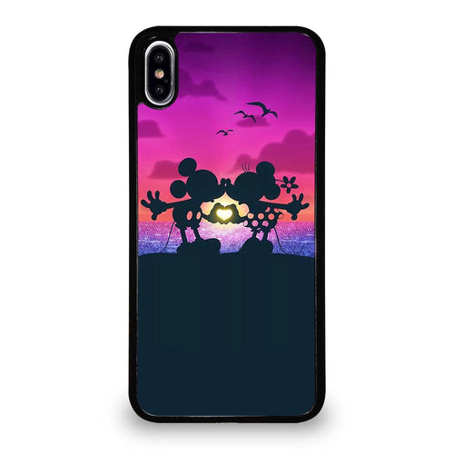 coque custodia cover fundas hoesjes iphone 11 pro max 5 6 7 8 plus x xs xr se2020 C26299 MICKEY AND MINIE MOUSE KISS iPhone XS Max Case