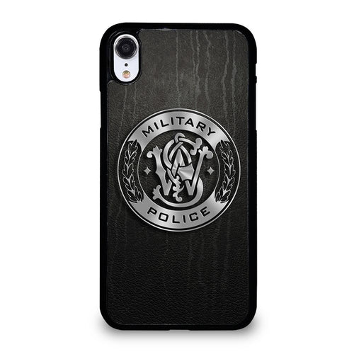 coque custodia cover fundas hoesjes iphone 11 pro max 5 6 7 8 plus x xs xr se2020 C26403 MILITARY POLICE LOGO iPhone XR Case