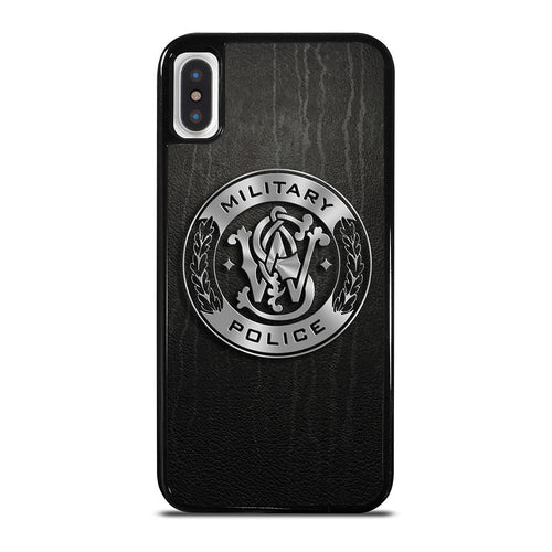 coque custodia cover fundas hoesjes iphone 11 pro max 5 6 7 8 plus x xs xr se2020 C26402 MILITARY POLICE LOGO iPhone X / XS Case