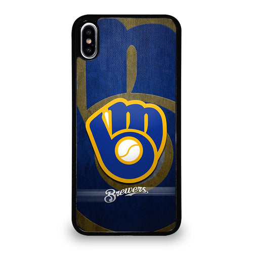 coque custodia cover fundas hoesjes iphone 11 pro max 5 6 7 8 plus x xs xr se2020 C26422 MILWAUKEE BREWERS 2 iPhone XS Max Case
