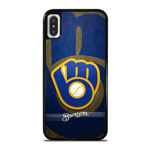 coque custodia cover fundas hoesjes iphone 11 pro max 5 6 7 8 plus x xs xr se2020 C26420 MILWAUKEE BREWERS 2 iPhone X / XS Case