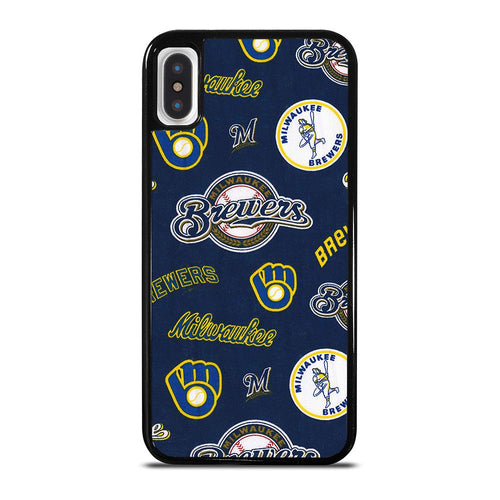 coque custodia cover fundas hoesjes iphone 11 pro max 5 6 7 8 plus x xs xr se2020 C26427 MILWAUKEE BREWERS ICON iPhone X / XS Case