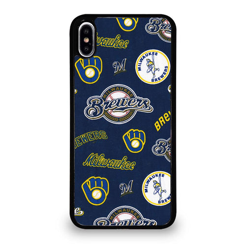coque custodia cover fundas hoesjes iphone 11 pro max 5 6 7 8 plus x xs xr se2020 C26429 MILWAUKEE BREWERS ICON iPhone XS Max Case