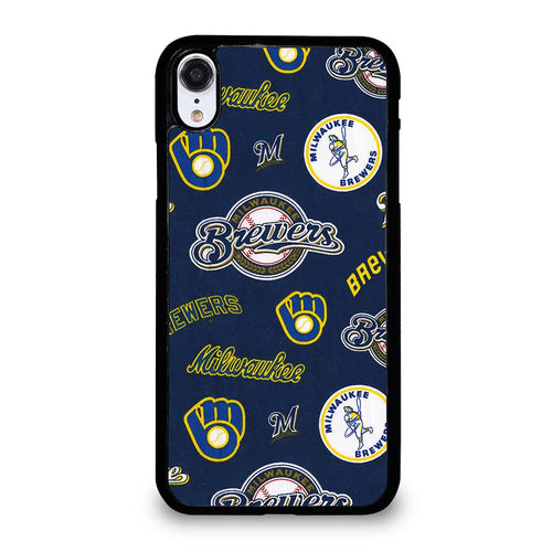 coque custodia cover fundas hoesjes iphone 11 pro max 5 6 7 8 plus x xs xr se2020 C26428 MILWAUKEE BREWERS ICON iPhone XR Case