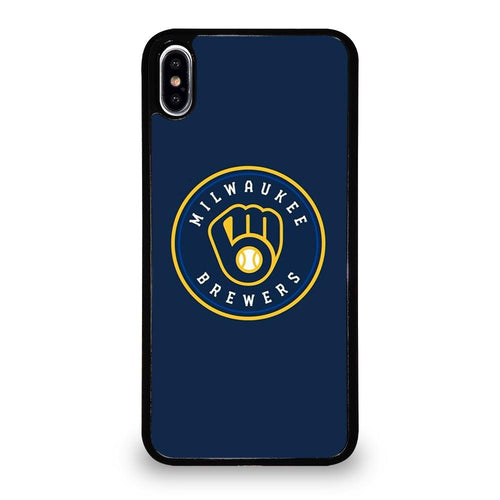 coque custodia cover fundas hoesjes iphone 11 pro max 5 6 7 8 plus x xs xr se2020 C26440 MILWAUKEE BREWERS iPhone XS Max Case