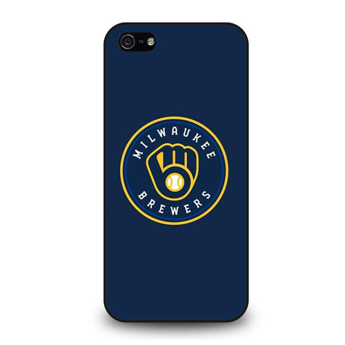 coque custodia cover fundas hoesjes iphone 11 pro max 5 6 7 8 plus x xs xr se2020 C26433 MILWAUKEE BREWERS iPhone 5/5S/SE Case