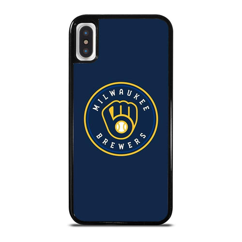 coque custodia cover fundas hoesjes iphone 11 pro max 5 6 7 8 plus x xs xr se2020 C26438 MILWAUKEE BREWERS iPhone X / XS Case