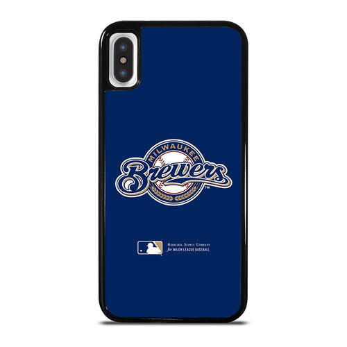 coque custodia cover fundas hoesjes iphone 11 pro max 5 6 7 8 plus x xs xr se2020 C26412 MILWAUKEE BREWERS 1 iPhone X / XS Case