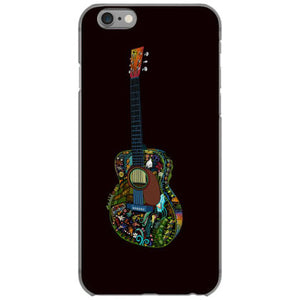 acoustic guitar illustration full colour iphone 6 6s hoesjes