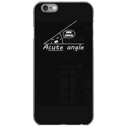 acute angle t shirt textual tees iphone 6 6s hoesjes