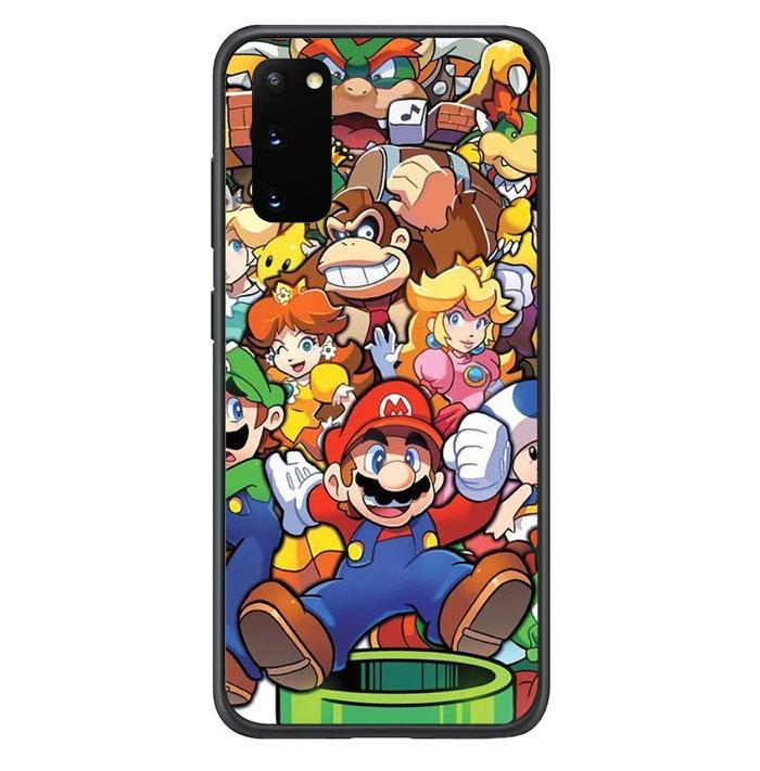 coque custodia cover fundas hoesjes j3 J5 J6 s20 s10 s9 s8 s7 s6 s5 plus edge B37224 Super Mario Party FF0083 Samsung Galaxy S20 Case