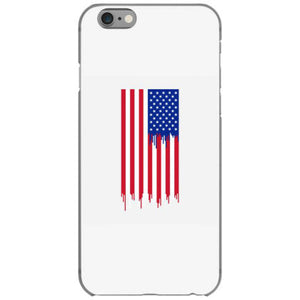 american flag dripping paint iphone 6 6s hoesjes