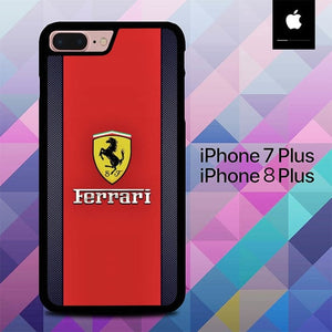 Ferrari Logo O0610 hoesjes iPhone 7 Plus , iPhone 8 Plus