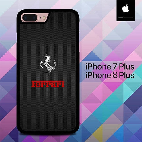 Ferrari Emboss Car O0611 hoesjes iPhone 7 Plus , iPhone 8 Plus