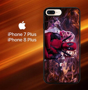 Harley Quinn and Deadpool O0692 hoesjes iPhone 7 Plus , iPhone 8 Plus