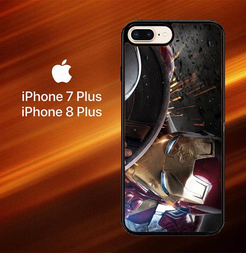 Iron-Man O0697 hoesjes iPhone 7 Plus , iPhone 8 Plus