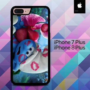 Clumsy Smurfs Kiss O0711 hoesjes iPhone 7 Plus , iPhone 8 Plus
