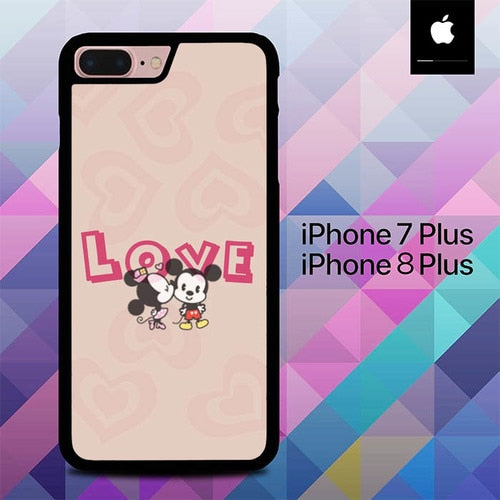 Story Love Mickey  Minnie Mouse O0723 hoesjes iPhone 7 Plus , iPhone 8 Plus