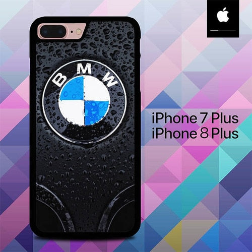 BMW Logo Car O0724 hoesjes iPhone 7 Plus , iPhone 8 Plus