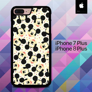 Disney Mickey Face Cute O0726 hoesjes iPhone 7 Plus , iPhone 8 Plus