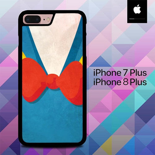 T-Shirt Donald Duck Blue O0730A hoesjes iPhone 7 Plus , iPhone 8 Plus