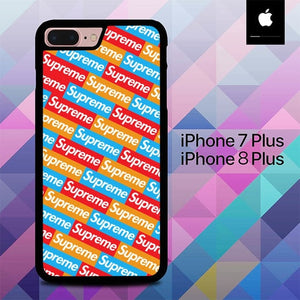 Sticker Supreme Pattern O0776 hoesjes iPhone 7 Plus , iPhone 8 Plus