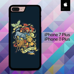 You Win Are You Die Thrones O0848 hoesjes iPhone 7 Plus , iPhone 8 Plus
