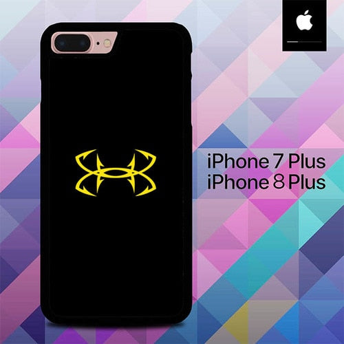 Under Armor Logo Yellow O0854 hoesjes iPhone 7 Plus , iPhone 8 Plus