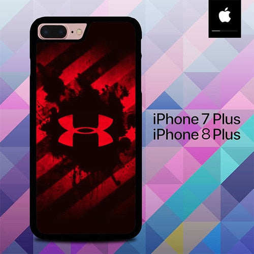 Red Under Armor O0855 hoesjes iPhone 7 Plus , iPhone 8 Plus