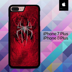 White Logo Spiderman O0873 hoesjes iPhone 7 Plus , iPhone 8 Plus