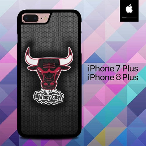 Chicago Bulls Windy City O0907 hoesjes iPhone 7 Plus , iPhone 8 Plus