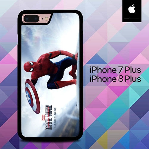 Civil War Spiderman O0941 hoesjes iPhone 7 Plus , iPhone 8 Plus
