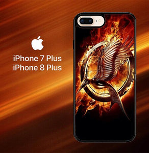 Logo Hunger Games O0955 hoesjes iPhone 7 Plus , iPhone 8 Plus