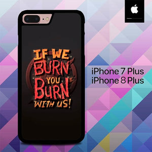 Quotes of Hunger Games O0957 hoesjes iPhone 7 Plus , iPhone 8 Plus