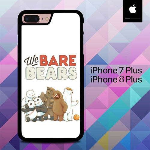 We Bare Bears and Friends O0974 hoesjes iPhone 7 Plus , iPhone 8 Plus