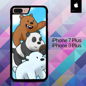Grizz, Panda, and Ice Bear O0979 hoesjes iPhone 7 Plus , iPhone 8 Plus