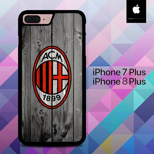 Ac Milan Wood O1038 hoesjes iPhone 7 Plus , iPhone 8 Plus