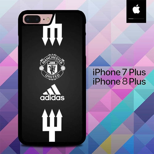 Mancaster United Black O1050 hoesjes iPhone 7 Plus , iPhone 8 Plus