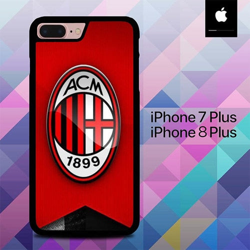 Logo Ac Milan O1205 hoesjes iPhone 7 Plus , iPhone 8 Plus