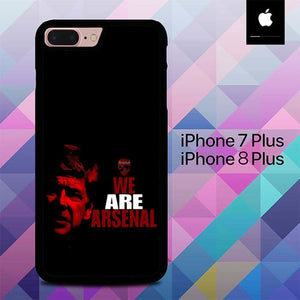 We Are Arsenal O1236 hoesjes iPhone 7 Plus , iPhone 8 Plus