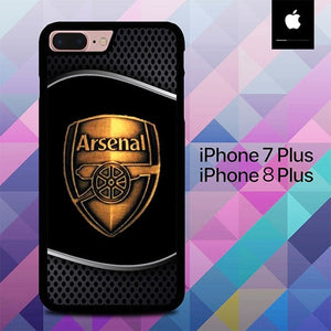 Arsenal Logo Gold O1237 hoesjes iPhone 7 Plus , iPhone 8 Plus