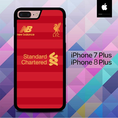 Liverpool Jersey Home O1241 hoesjes iPhone 7 Plus , iPhone 8 Plus