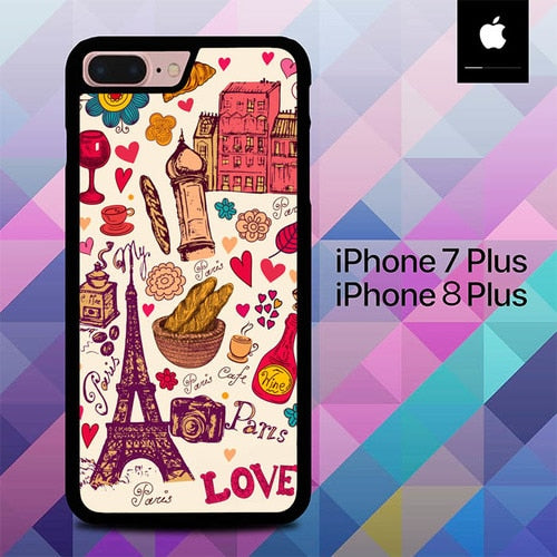 Beautiful Paris O1249 hoesjes iPhone 7 Plus , iPhone 8 Plus