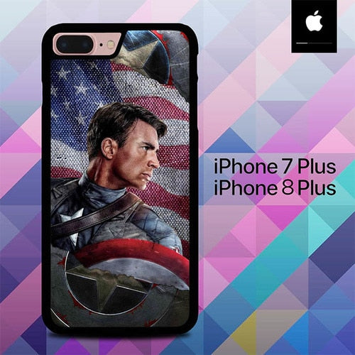 Captain America Sheild O1295 hoesjes iPhone 7 Plus , iPhone 8 Plus
