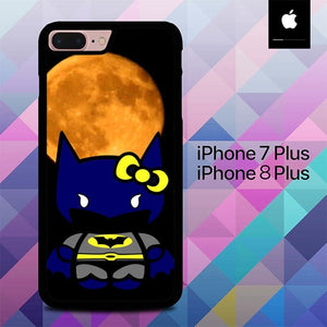 Hello Kitty Batman O3024 hoesjes iPhone 7 Plus , iPhone 8 Plus